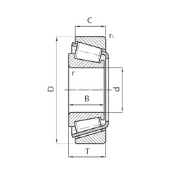 100 mm x 165 mm x 52 mm  CYSD 33120 tapered roller bearings