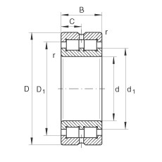 220 mm x 300 mm x 80 mm  INA SL014944 cylindrical roller bearings