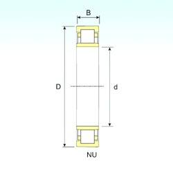 280 mm x 580 mm x 175 mm  ISB NU 2356 cylindrical roller bearings