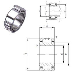 70 mm x 100 mm x 30 mm  JNS NA 4914 needle roller bearings