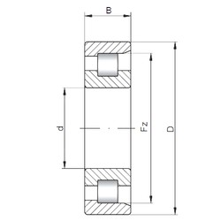 100 mm x 180 mm x 60,3 mm  Loyal NF3220 cylindrical roller bearings