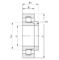 260 mm x 400 mm x 65 mm  ISO NH1052 cylindrical roller bearings