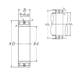 220 mm x 300 mm x 80 mm  NSK RSF-4944E4 cylindrical roller bearings
