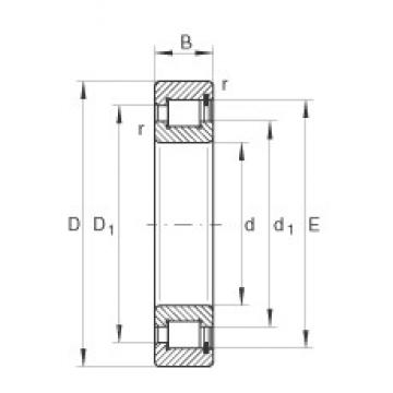 220 mm x 340 mm x 90 mm  INA SL183044 cylindrical roller bearings