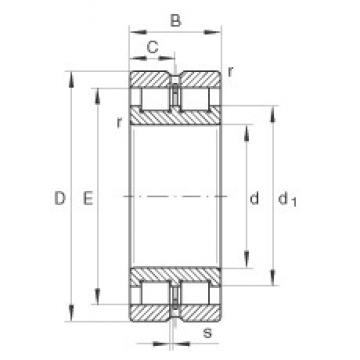 220 mm x 300 mm x 80 mm  INA SL024944 cylindrical roller bearings