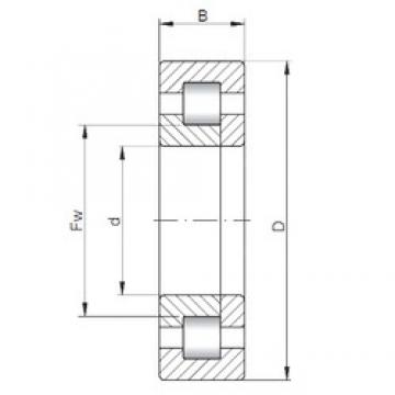 360 mm x 540 mm x 82 mm  ISO NUP1072 cylindrical roller bearings