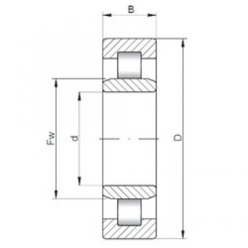 360 mm x 540 mm x 82 mm  ISO NU1072 cylindrical roller bearings