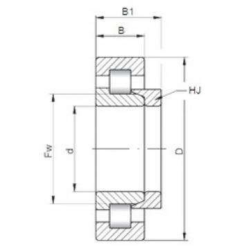 320 mm x 580 mm x 150 mm  ISO NH2264 cylindrical roller bearings