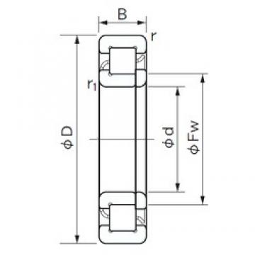 220 mm x 340 mm x 56 mm  NACHI NUP 1044 cylindrical roller bearings