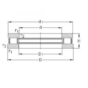 NKE 81212-TVPB thrust roller bearings